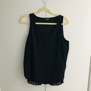 Pleated Back Tank Top